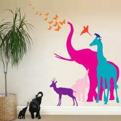 Animals Wall Stickers Child Friendly Animal Wall Decal For Nursery Tips Ideas