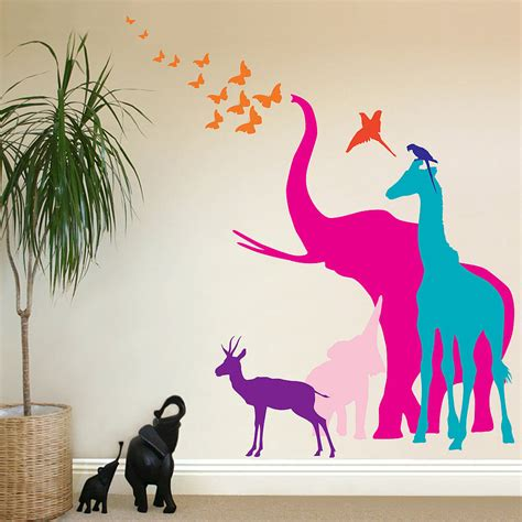 animal stickers for walls child friendly animal wall decal for nursery tips ideas