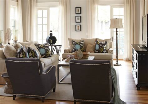 gray and ivory living room and blue living room transitional living room interior philosophy