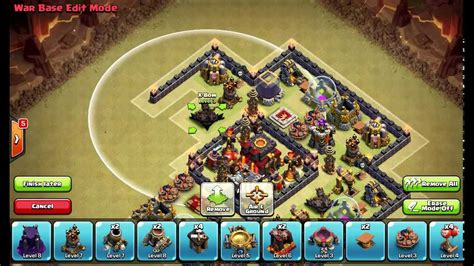 town hall 10 war base 275 walls clash of clans layouts town hall 10 war base layout 51