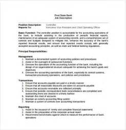position description template 11 controller description templates free sle