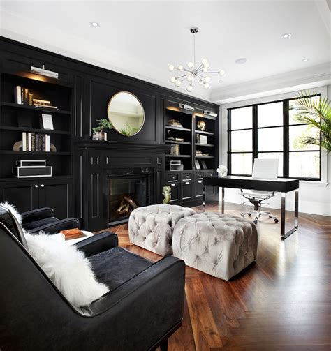 black built  cabinets contemporary denlibrary
