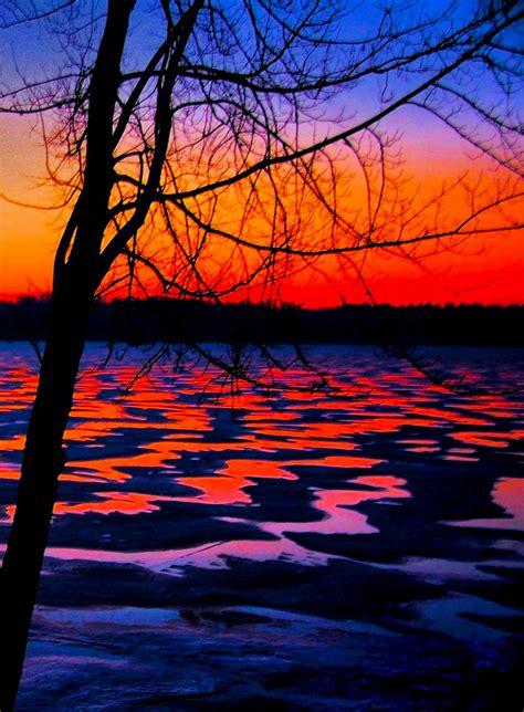 mark goodhew artwork winter lake sunrise original