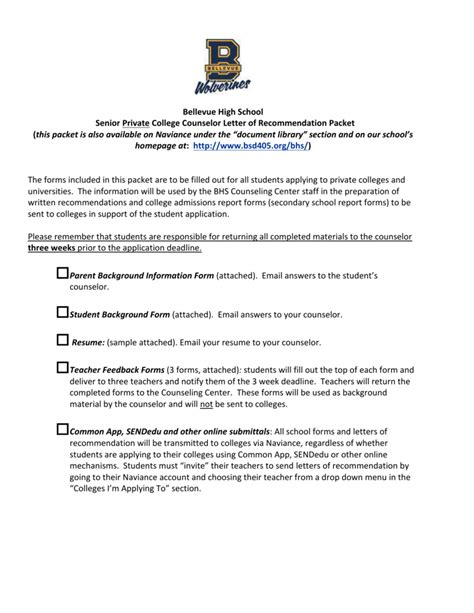 Recommendation Letter For A High School Student Going To College sle letter of recommendation for high school student