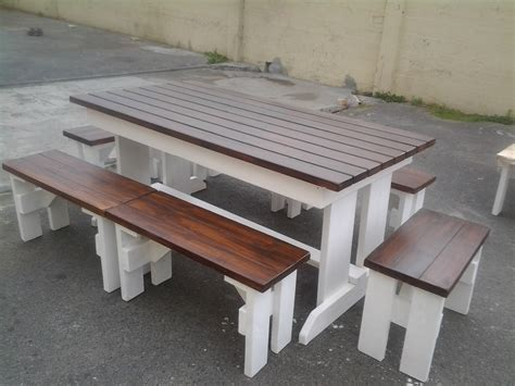 outdoor wooden table and benches garden benches outdoor benches outdoor furniture patio