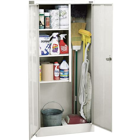 sandusky welded steel janitorial cabinet 30in w x