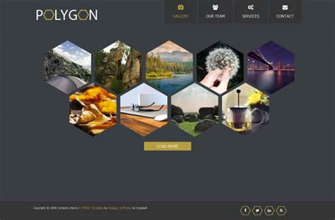 image gallery template html 250 free responsive html5 css3 website templates