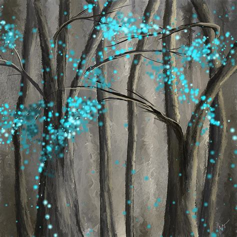 Home Painting Ideas Interior by Alleviation Gray And Turquoise Art Painting By Lourry Legarde