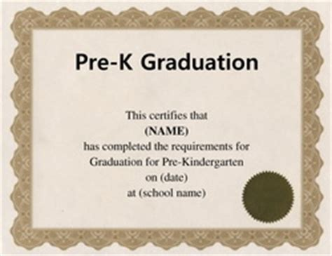 Free Word Certificate Templates Wording Geographics Pre K Graduation Diploma Template