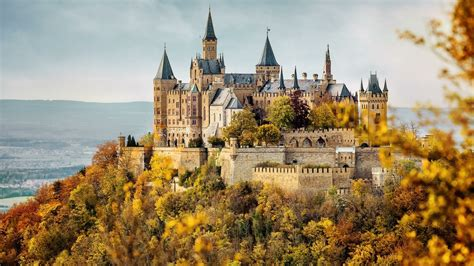 Hohenzollern Castle At Fall Wallpaper   Wallpaper Studio