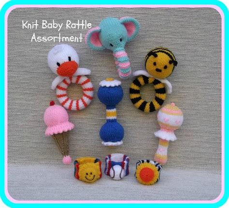 knitted baby rattle knit baby rattle assortment by rainebo craftsy