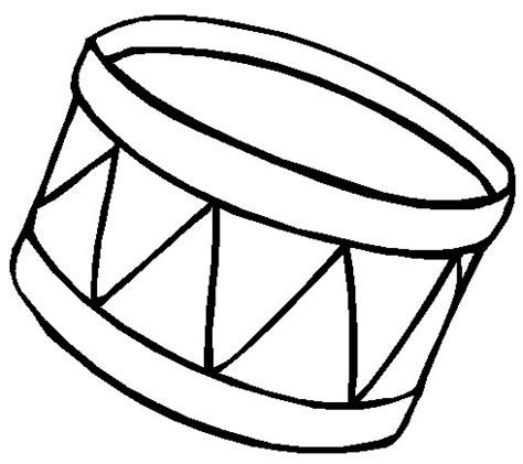 drum template printable coloring page drum