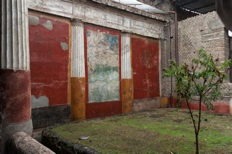 The New Small House villa poppaea in oplontis italy viridarium of villa