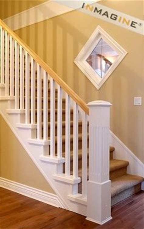 white banister white baluster stained handrail google search staircase railings pinterest