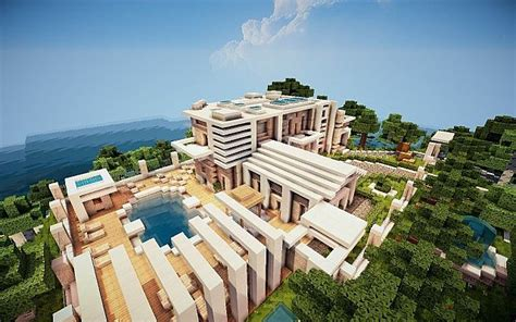minecraft island house virage modern island house minecraft project