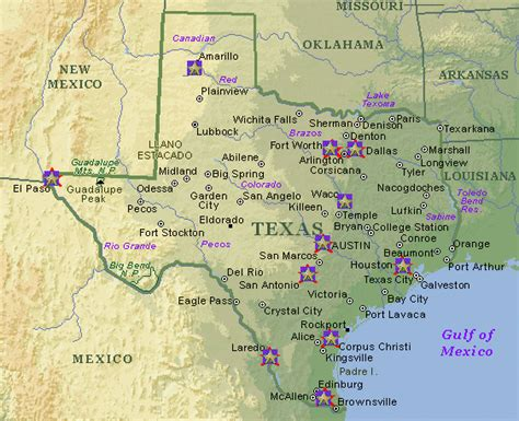 map of mountains in texas texas