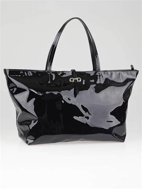 Salvatore Ferragamo Vernice Patent Tote by Salvatore Ferragamo Black Patent Leather Bice Tote Bag
