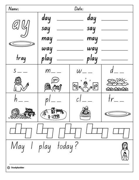 Ai And Ay Worksheets by All Worksheets 187 Ai Ay Worksheets Printable Worksheets