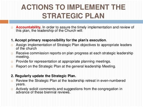 Strategic Planning For Churches Church Strategic Planning Template