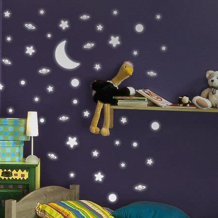 home decor line home decor line space glow in the wall stickers