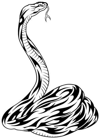 tribal snake tattoos black tribal snake design