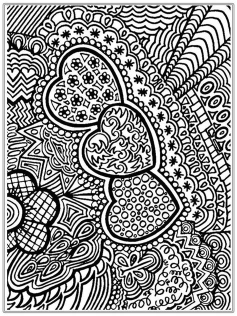 coloring pages for adults valentines heart pictures to color for adult realistic coloring