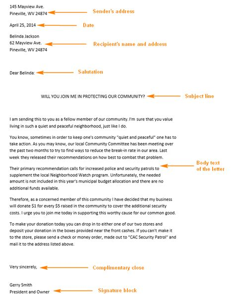 Business Letter Template For Middle School Students sle business letter for high school students cover