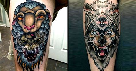 12 cunning wolf in sheep s clothing tattoos tattoodo