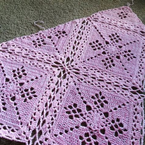 crochet pattern join victorian lattice square joining method celtic lace