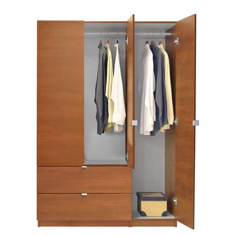 Door Armoire Alta Wardrobe Armoire 3 Door Armoire Right Opening