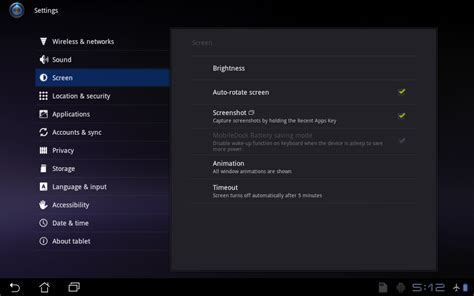 screen capture android activating and using screen capture in android asus transformer