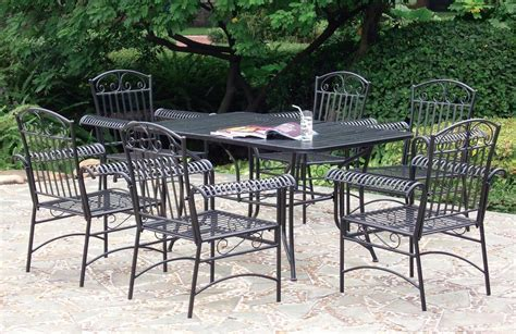 Metal Patio Furniture Set Cast Aluminum Vs Wrought Iron Teak Patio Furniture