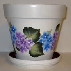 flower pots painting pots flowers