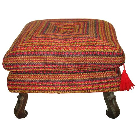 colorful ottoman vintage colorful ottoman bench or stool for sale at 1stdibs
