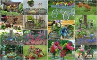 20 wonderful ideas of how to beautify the garden with old bikes
