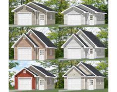 20x24 1 car detached garage plans download and build compact 2 car garage plan no 380 2c by behm design 19 x