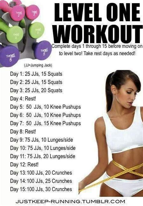 working out before bed level one workout workout pinterest
