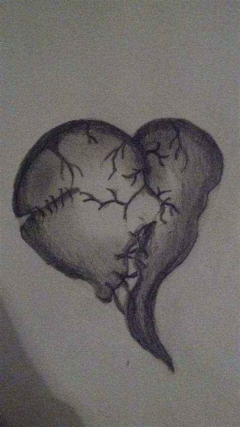 stitched heart tattoo designs stitched broken by baconik on deviantart