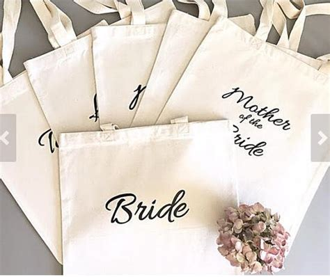 personalized tote bags for bridal shower thank you bridesmaid tote bags personalized text chagne