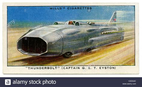 Captain Georges Gift Card - captain george eyston s thunderbolt on the bonneville salt flats stock photo