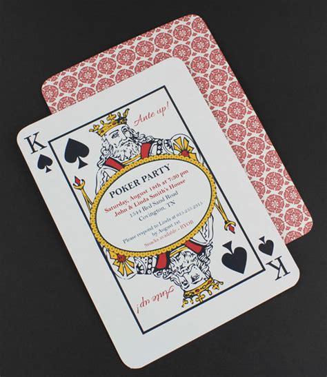 printable playing card invitation template poker night invitation template download print