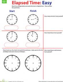 time goes by calculate elapsed time 1 worksheet