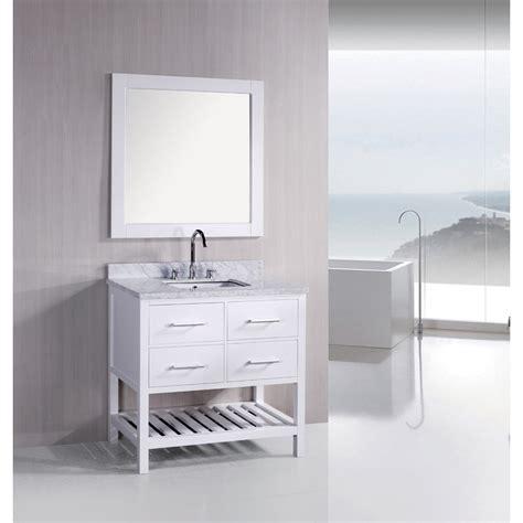 bathroom vanity bottom design element london 36 quot bathroom vanity with open bottom