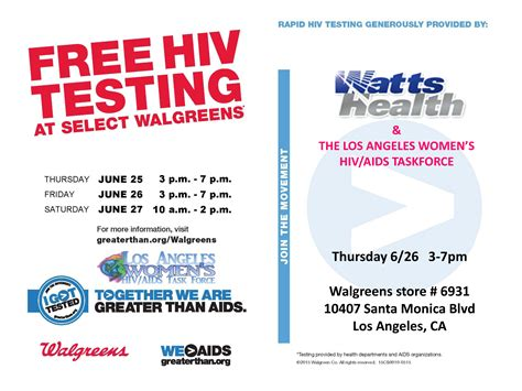 free hiv testing being alive