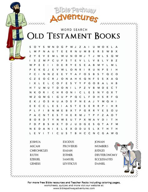Books Of The Bible Word Search Puzzles Printable
