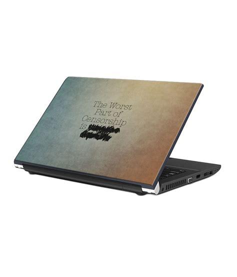 design laptop skin shopmantra censorship minimal design laptop skin buy