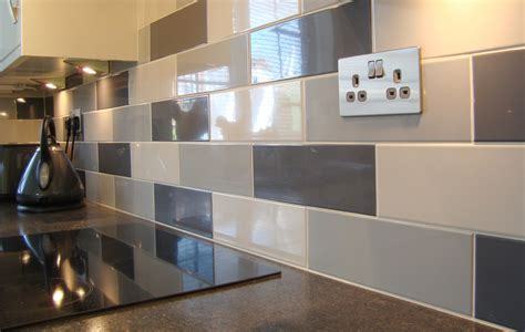Linear white gloss wall tile kitchen tiles from tile mountain