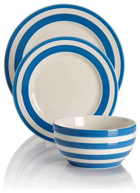 Rugs Marks And Spencer by 12 Piece Truro Striped Dinner Set Country Dinnerware