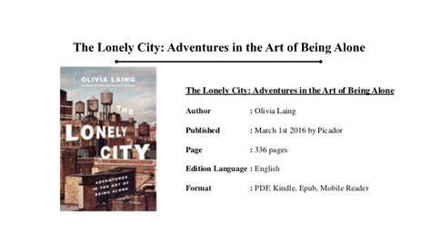 libro the lonely city adventures the lonely city pdf book