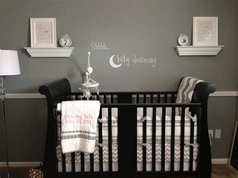 Second Baby Furniture by Nursery Gray Walls Crib White Accents Baby